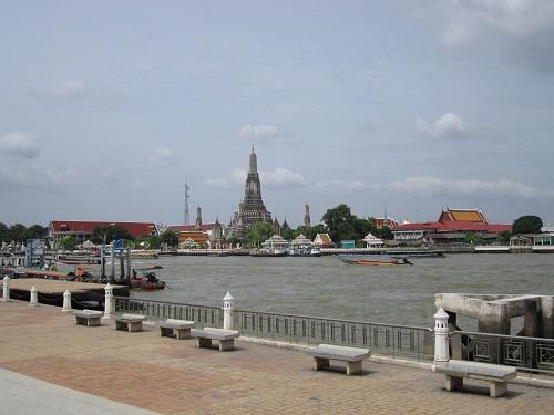 Wat Arun desde el parque